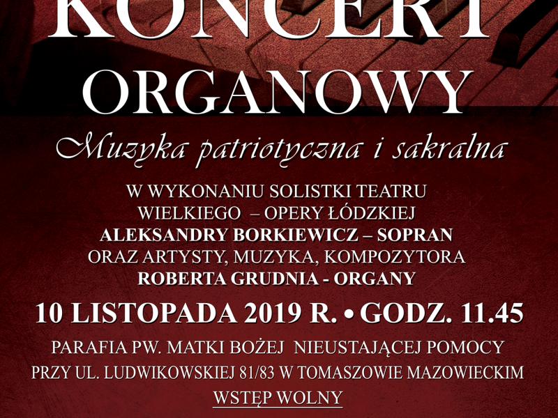 Koncert organowy w parafii na Ludwikowie